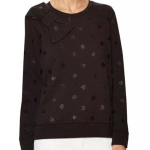 Kate Spade Glitter Polka Dot Black Sweatshirt